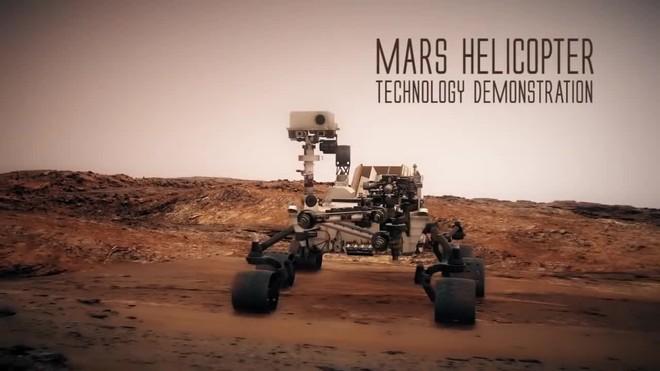 Recreación del helicóptero que enviará la NASA a Marte en el 2020.