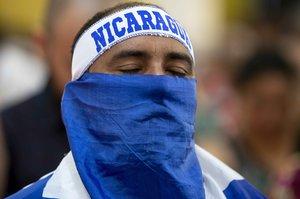 Un opositor al gobierno del presidente Daniel Ortega en Nicaragua.