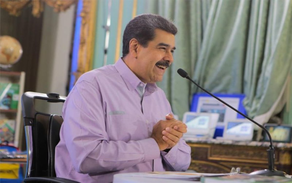 Nicolás Maduro, el presidente de Venezuela, en una rueda de prensa.