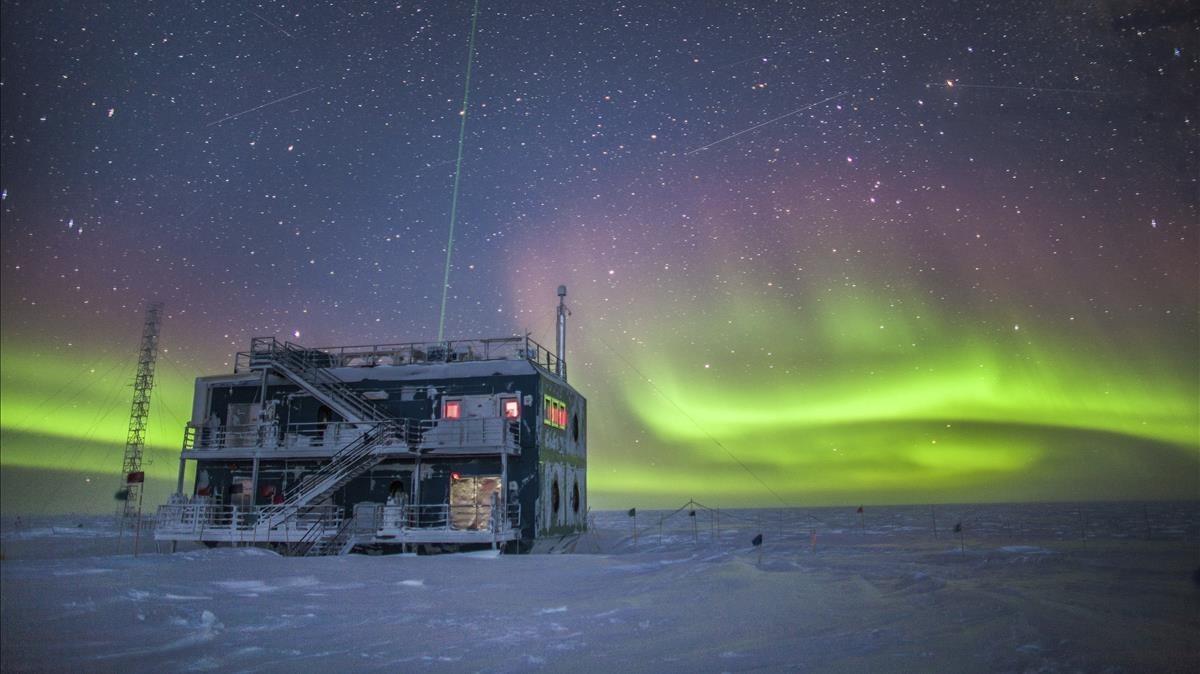 Observatorio meteorológico de la NOAA en la Antártida.