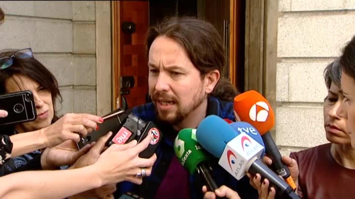 Pablo Iglesias exige la dimisión inmediata de Máxim Huerta.