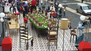 El pesebre de Navidad de la plaza de Sant Jaume.