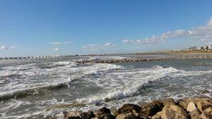 Playa de La Mota de Sant Pere, en Cubelles (Garraf).