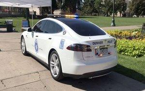 Una patrulla de la policía de la ciudad de Denver, Estados Unidos.