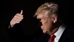 El presidente de Estados Unidos, Donald Trump. durante una rueda de prensa en la Casa Blanca. este sábado.