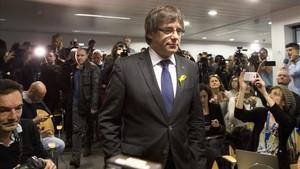 El expresident Carles Puidemont, en Bruselas.