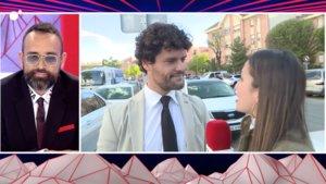 Risto Mejide escuchando las declaraciones que Miguel Abellán ha ofrecido a Todo es mentira.