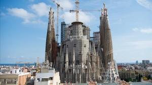 El templo de la Sagrada Família.