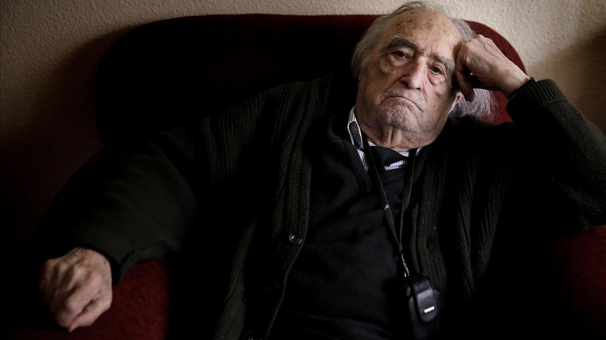 Sánchez Ferlosio, en su casa, el 29 de diciembre del 2016