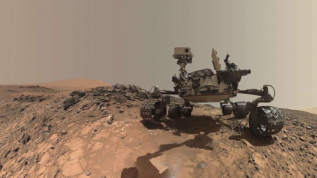 Selfie del Curiosity sobre la superficie de Marte.