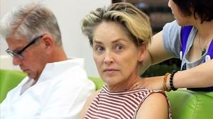 Sharon Stone el pasado mes de julio.