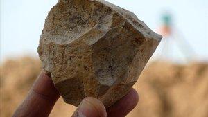 Sílex hallado en un yacimiento humano del Norte de África.