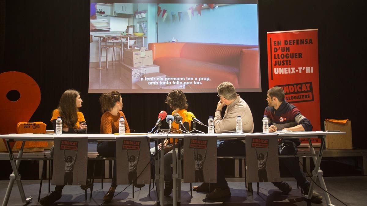 El Sindicat de Llogaters presemta su campaña contra los abusos inmobiliarios.