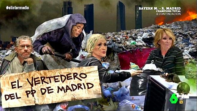 Fotomontaje en el programa El intermedio (La Sexta).
