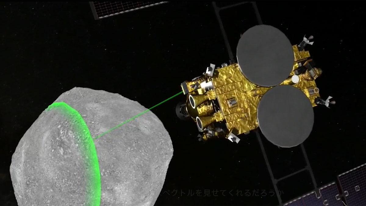 La sonda japonesa Hayabusa2 alcanza un asteroide para tomar muestras y traerlas a la Tierra.