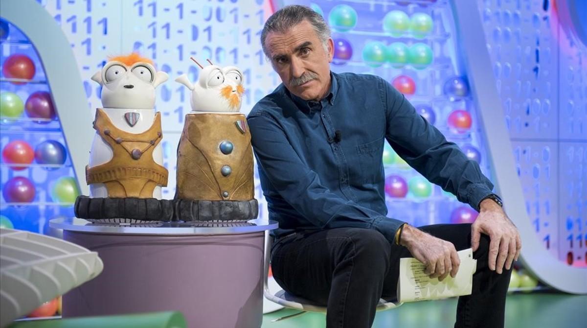 Juan y Medio, presentador del programa de TVE-1 'Poder canijo'.