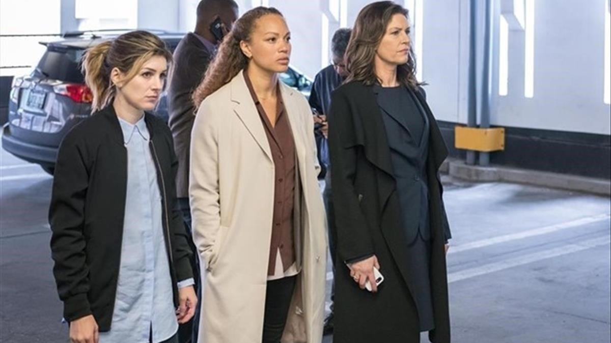 Las tres protagonistas de la serie canadiense 'The detail'.