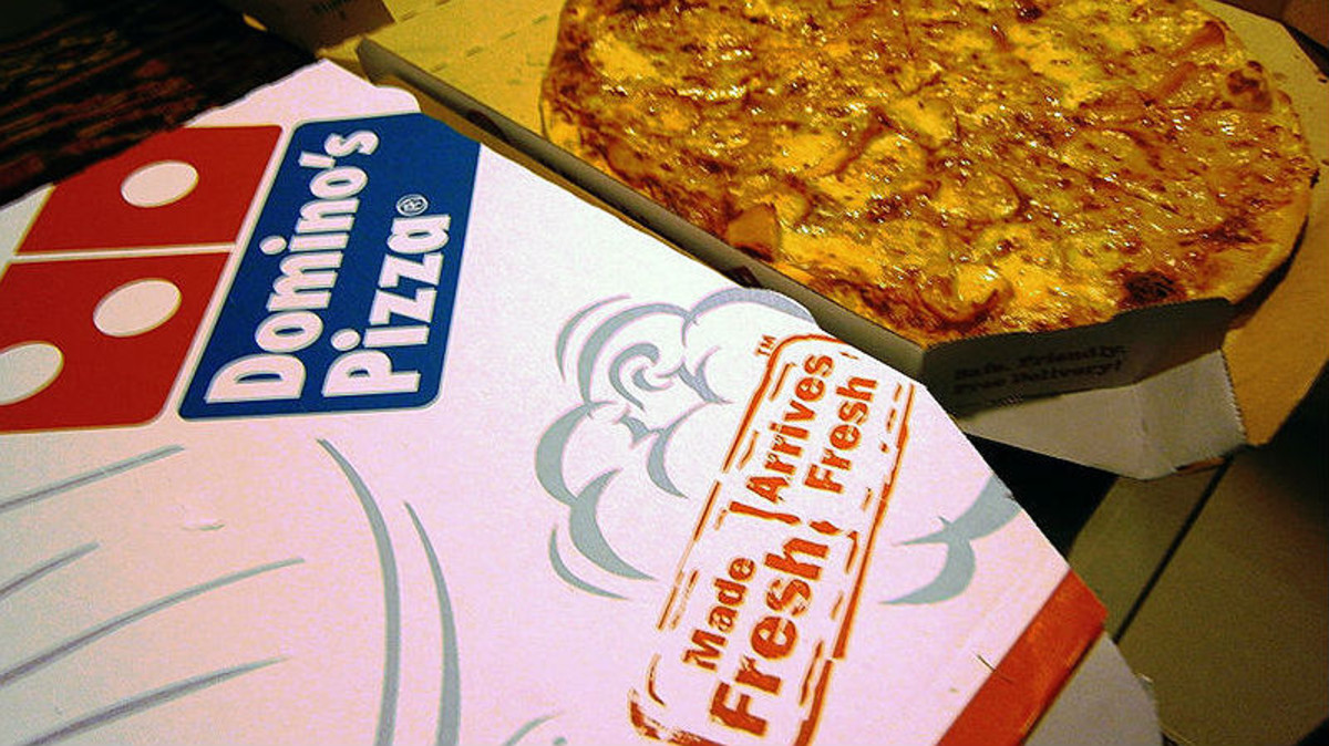 Una pizza de Dominos.