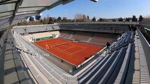 Una vista de la nueva pista Simonne Mathieu en las instalaciones de Roland Garros de París.