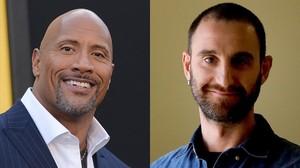 Dwayne Johnson y Dani Rovira, que compartirán reparto en la película.