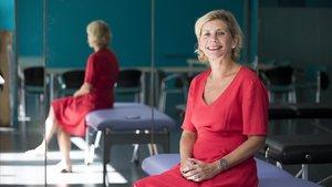 Helen Kohlen, en el Col·legi Oficial d'Infermeres i Infermers de Barcelona (COIB)en septiembre.