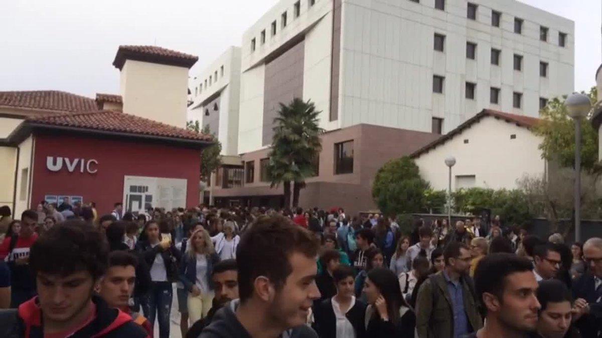 Primeras marchas de estudiantes tras la sentencia del 'procés'