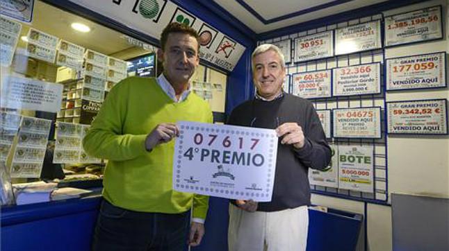 Uno de los cuartos premios caído en Ourense.