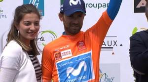 Alejandro Valverde, en el podio final de la Ruta de Occitania.