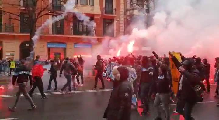 Vídeo ultras en Bilbao.