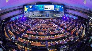 Vista del hemiciclo del Parlamento Europeo.