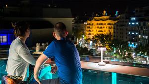 Vistes des de la terrassa Alaire de l'Hotel Comtes de Barcelona.