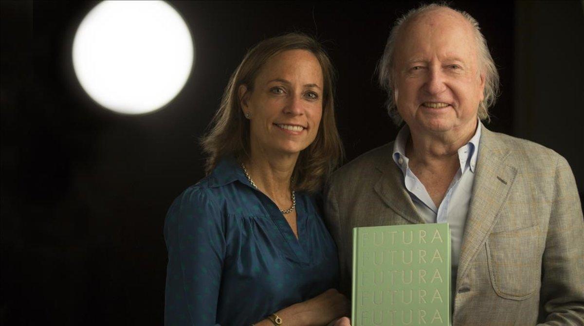 Wolfgang y Viviane Hartmann, en Barcelona.