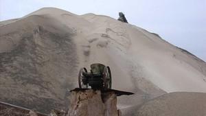 Montaña de resíduos salinos de las mimas explotadas por Iberpotash.