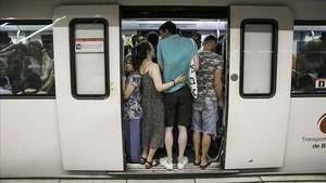 Vaga al metro de Barcelona durant la Mercè