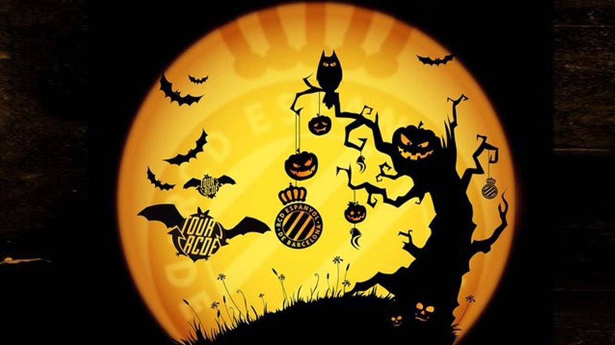 El Espanyol celebra Halloween con un tour a oscuras por Cornellà