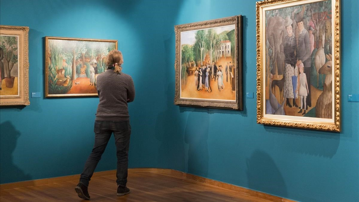 Uno de los apartados de la exposición que el Museu d'Art de Girona dedica a Olga Sacharoff.