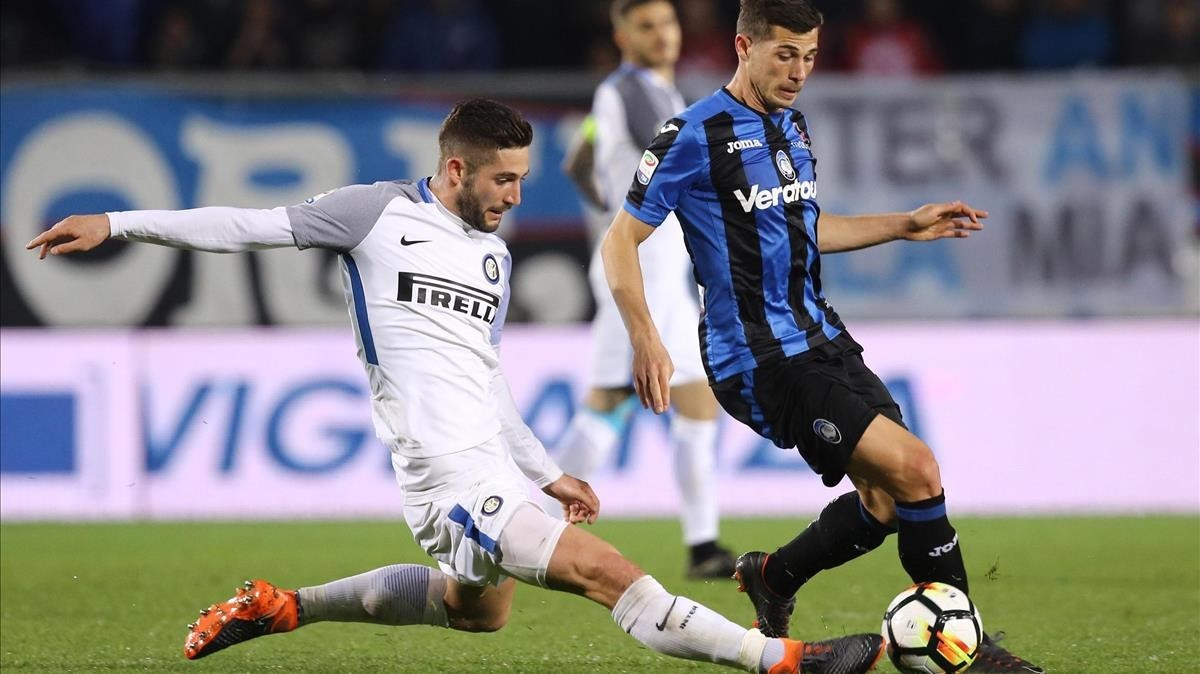 Imagen del partido Atalanta-Inter disputado el pasado 14 de abril.