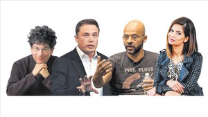 James Altucher, Elon Musk, Mo Gawdat, Dona Sarkar.