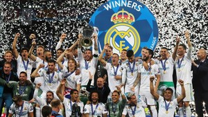 El Real Madrid celebra su triunfo en la Champions.