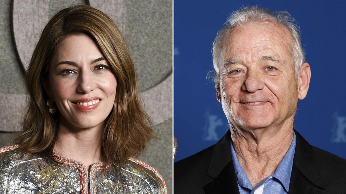 La directora Sofia Coppola y el actor Bill Murray.