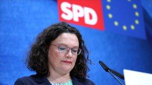 Dimiteix la líder dels socialdemòcrates alemanys després de la desfeta europea