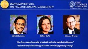Nobel d'economia: Banerjee, Duflo i Kremer guanyen el premi del 2019
