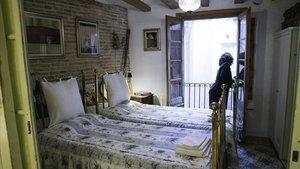Una habitación de alquiler por días en un piso de Barcelona.