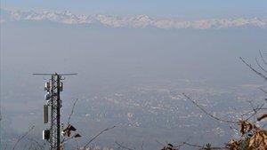Contaminación en Turín, el pasado 7 de enero.