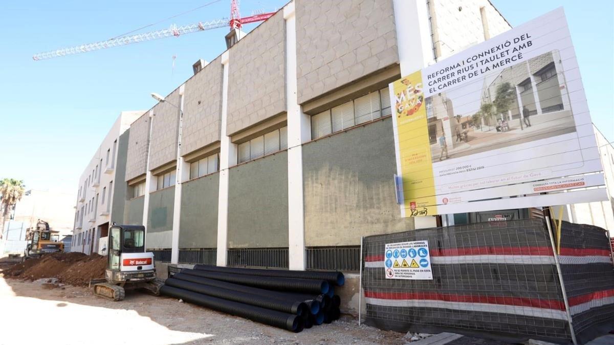 La urbanització del carrer de Rius i Taulet a Gavà «millorarà» l'accessibilitat dels vianants
