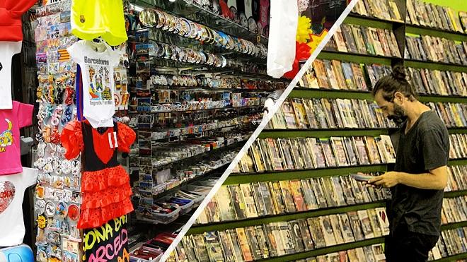 Història escrita d'un carrer de Barcelona, de videoclub a botiga de records