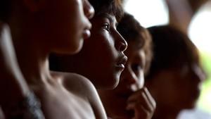 zentauroepp455137 guarani indian children listen during the official presentat170913130613