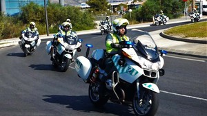 Motoristas de la Guardia Civil de Tráfico