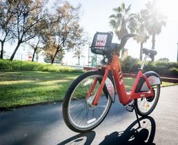 Una bicicleta perteneciente al servicio del Bicing promovido por el Ayuntamiento de Barcelona.