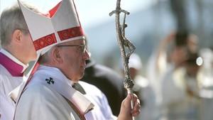 El papa Francisco, en Temuco, Chile.